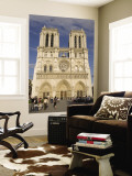 Notre Dame Cathedral, Ile De La Cite, Paris, France Wall Mural by Sergio Pitamitz