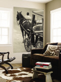 Horse Carriages at Pinto Wharf, Floriana, Valletta, Malta Wall Mural by Walter Bibikow