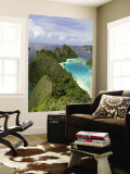View of Islands Covered With Vegetation, Raja Ampat, New Guinea Island, Indonesia Wall Mural