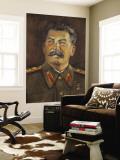 Soviet-Era Art, M.J.V. Stalin By Johannes Saal, 1952, Art Museum of Estonia, Tallinn, Estonia Vægplakat af Walter Bibikow