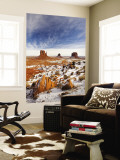 Monument Valley in the Snow, Monument Valley Navajo Tribal Park, Arizona, USA Wall Mural by Walter Bibikow