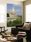 Towers of Fisherman's Bastion on Castle Hill, Buda, Budapest, Hungary Wall Mural by Lisa Engelbrecht