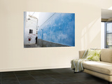 Cool Blue Colour Adorning Wall Deep Within Meknes Medina Wall Mural by Orien Harvey