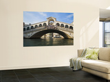 Rialto Bridge of Venice From Grand Canal, Venice, Italy Wall Mural by Terry Eggers