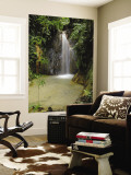 Eastern Slope of the Andes Waterfall, San Isidro, Ecuador Wall Mural by Pete Oxford