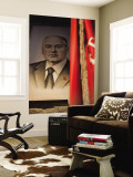 Portrait of Mikhail Gorbachev, Ussr Leader in the 1990S, Estonia Vægplakat af Walter Bibikow