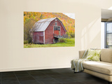Barn in Vermont's Green Mountains, Hancock, Vermont, USA Wall Mural by Jerry & Marcy Monkman