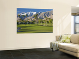 Desert Princess Golf Course and Mountains, Palm Springs, California, USA Wall Mural by Walter Bibikow