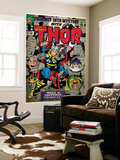Marvel Comics Retro: The Mighty Thor Comic Book Cover No.123, Mystery with Absorbing Man, Odin Wall Mural
