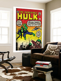 Marvel Comics Retro: The Incredible Hulk Comic Book Cover No.3 (aged) Wall Mural
