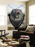 Binoculars on Empire State Building Observation Deck Wall Mural by Christopher Groenhout