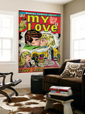 Marvel Comics Retro: My Love Comic Book Cover #18, Kissing, Love on the Rebound (aged) Mural