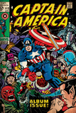 Marvel Comics Retro: Captain America Comic Book Cover 112, Album Issue! (aged) Wall Mural