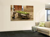 Vendor with Watermelon Cart Wall Mural by Wes Walker