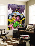 Exiles No.66 Cover: Blink, Sabretooth, Mimic, Morph and Exiles Wall Mural by James Calafiore