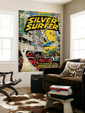 Marvel Comics Retro: Silver Surfer Comic Book Cover 13 (aged) Wall Mural
