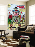 Captain America Bicentennial Battles: Captain America Wall Mural by Jack Kirby