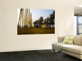 Peasant Farm and Prayer Flags Wall Mural by Antony Giblin