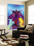 Ultimate Spider-Man No.119 Cover: Spider-Man, Firestar, Iceman and Magneto Wall Mural by Stuart Immonen