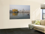 Harmandir Sahib (Golden Temple), Reflecting in the Waters of the Amrit Sarovar Wall Mural by Sean Caffrey