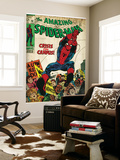 Marvel Comics Retro: The Amazing Spider-Man Comic Book Cover No.68, Crisis on Campus (aged) Wall Mural