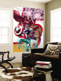 Avengers: Earths Mightest Heroes No.8 Cover: Quicksilver, Captain America and Scarlet Witch Wall Mural by Scott Kolins