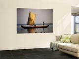 Sail Canoe on Vembanad Lake Wall Mural by Craig Pershouse