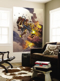 Iron Man: House Of M No.2 Cover: Iron Man and Sentinel Wall Mural by Pat Lee