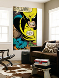 Marvel Comics Retro: X-Men Comic Panel, Wolverine (aged) Wall Mural