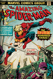 Marvel Comics Retro: The Amazing Spider-Man Comic Book Cover No.153 (aged) Wall Mural