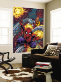 Friendly Neighbourhood Spider-Man No.1 Cover: Spider-Man Charging Wall Mural by Mike Wieringo