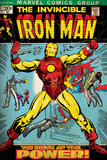Marvel Comics Retro: The Invincible Iron Man Comic Book Cover No.47, Breaking Through Chains (aged) Wall Mural