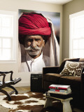 Portrait of Man in Red Turban Wall Mural by April Maciborka