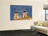 Baroque Monastery Church of Sts Peter and Paul at Baroque Benedictine Abbey Stift Melk Wall Mural by Richard Nebesky