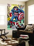 Captain America Bicentennial Battles: Captain America and Red Skull Wall Mural by Jack Kirby