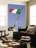Flag Flying in Front of Neo Classical Ii Vittoriano Wall Mural by Will Salter
