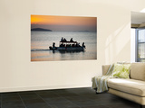 Tourist Boat at Sunset on Lake Malawi, Cape Maclear Wall Mural by Ariadne Van Zandbergen