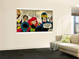 Marvel Comics Retro: X-Men Comic Panel (aged) Mural