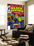 Black Panther No.1 Cover: Black Panther, Little, Abner and Princess Zanda Fighting Wall Mural by Jack Kirby