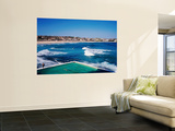 Overhead of Bondi Icebergs Pool and Bondi Beach Wall Mural by Holger Leue