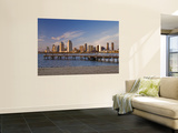 Downtown at Sunset, Seen from Coronado Peninsula Wall Mural by Witold Skrypczak