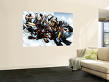 New X-Men No.45 Group: Cable, Wolverine and Caliban Wall Mural by Humberto Ramos