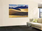 Hikers at Mesquite Flat Sand Dunes with Amargosa Range in Background Wall Mural by Witold Skrypczak
