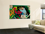 Marvel Comics Retro: The Amazing Spider-Man Comic Panel, the Vulture, Thop! (aged) Wall Mural