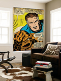 Marvel Comics Retro: Fantastic Four Comic Panel, Thing, Mr. Fantastic (aged) Wall Mural