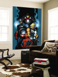 Ultimate Spider-Man No.70 Cover: Spider-Man, Thor, Captain America, Iron Man and Ultimates Wall Mural by Mark Bagley