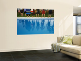 Reflections in the Pool, at Poolside New Year Celebration. Wall Mural by Christian Aslund