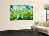 Decorated Limoncello Bottles Wall Mural by Greg Elms