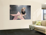 Little Dog Visiting John Travolta's Star on Hollywood Walk of Fame Wall Mural by Christina Lease
