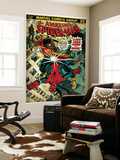 Marvel Comics Retro: The Amazing Spider-Man Comic Book Cover 123, Luke Cage - Hero for Hire (aged) Wall Mural